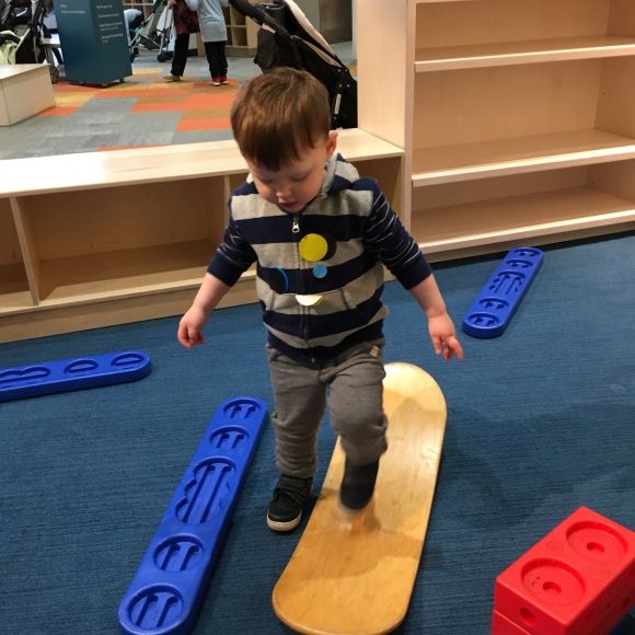 Checking out the balance board